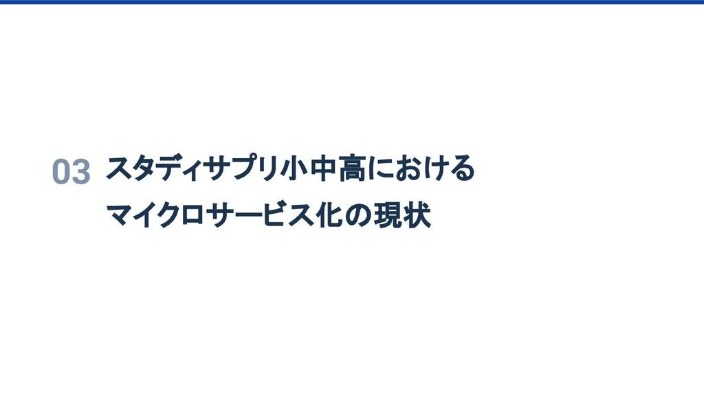 03 スタディサプリ小中高における マイクロサービス化の現状