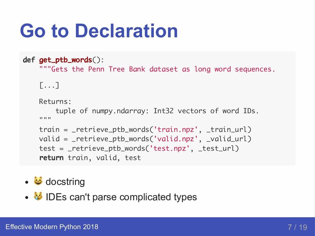 "Go to Declaration def get_ptb_words(): """"""Gets ..."