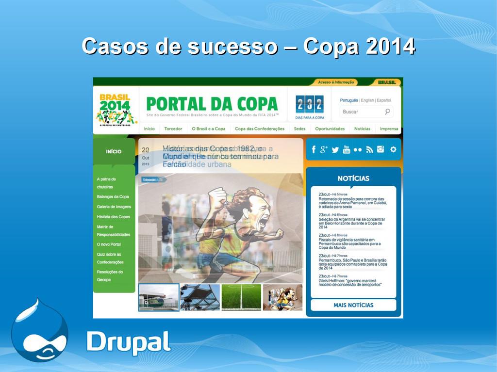 Casos de sucesso – Copa 2014 Casos de sucesso –...