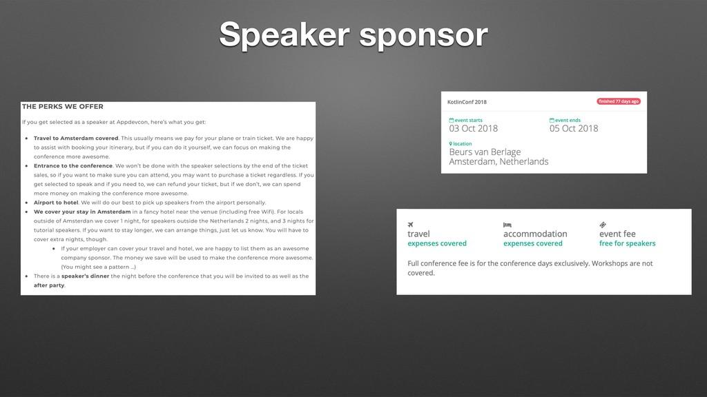Speaker sponsor
