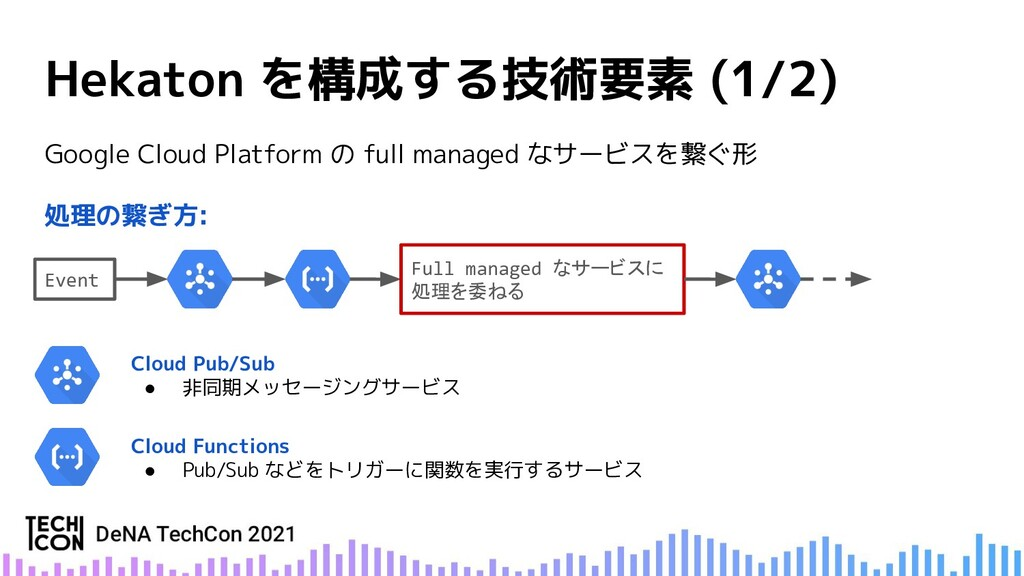 Google Cloud Platform の full managed なサービスを繋ぐ形 ...
