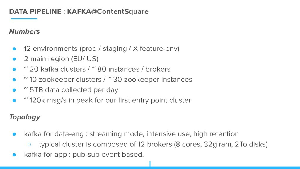 DATA PIPELINE : KAFKA@ContentSquare Numbers ● 1...