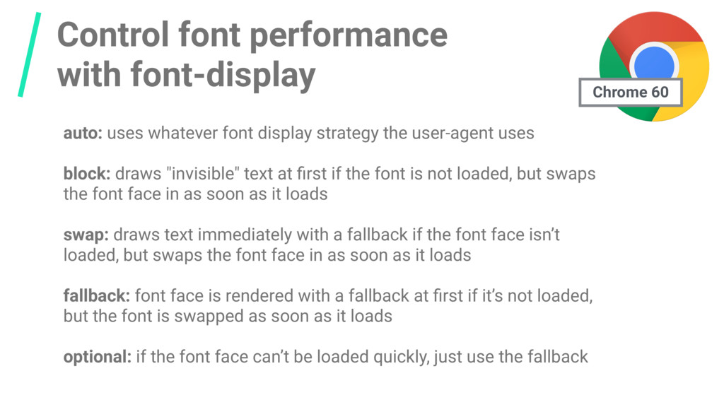 Control font performance with font-display auto...