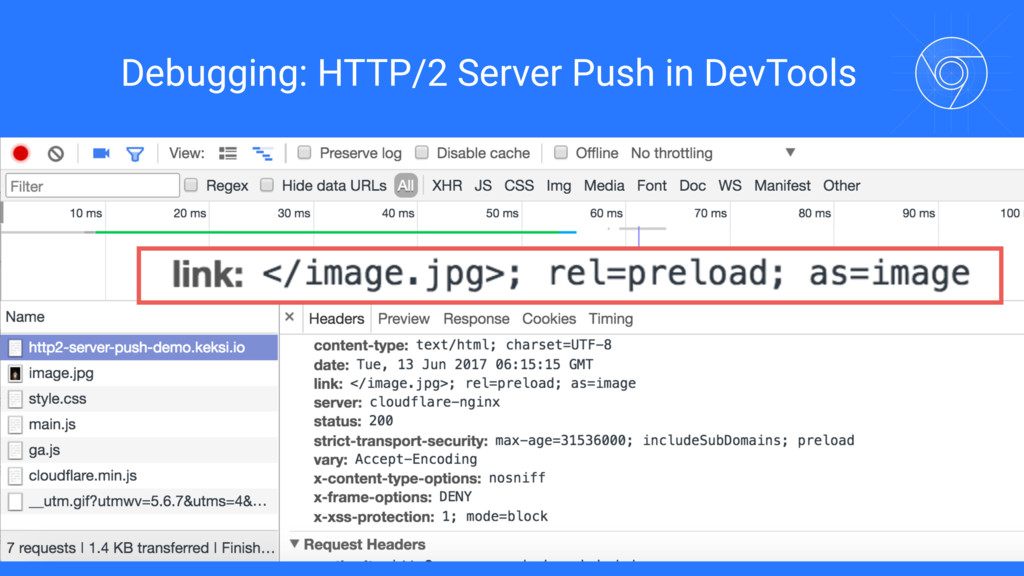 Debugging: HTTP/2 Server Push in DevTools