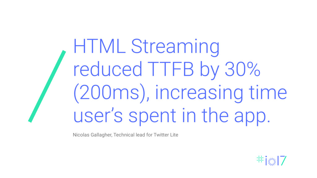 HTML Streaming reduced TTFB by 30% (200ms), inc...