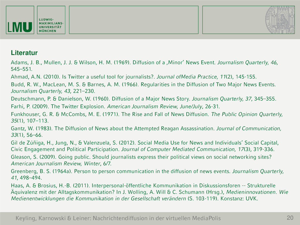 20 Literatur Adams, J. B., Mullen, J. J. & Wils...