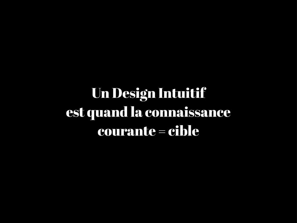 Un Design Intuitif est quand la connaissance co...