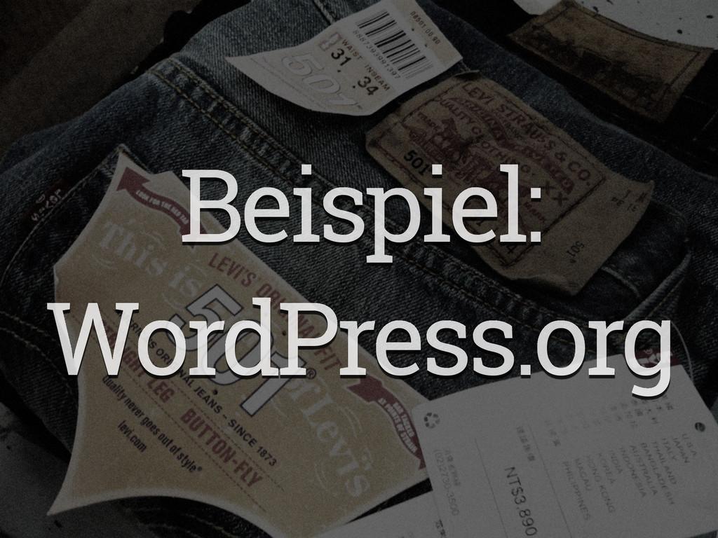 Beispiel: WordPress.org
