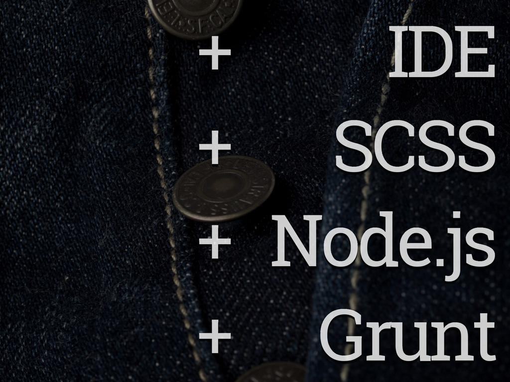 + IDE + SCSS + Node.js + Grunt