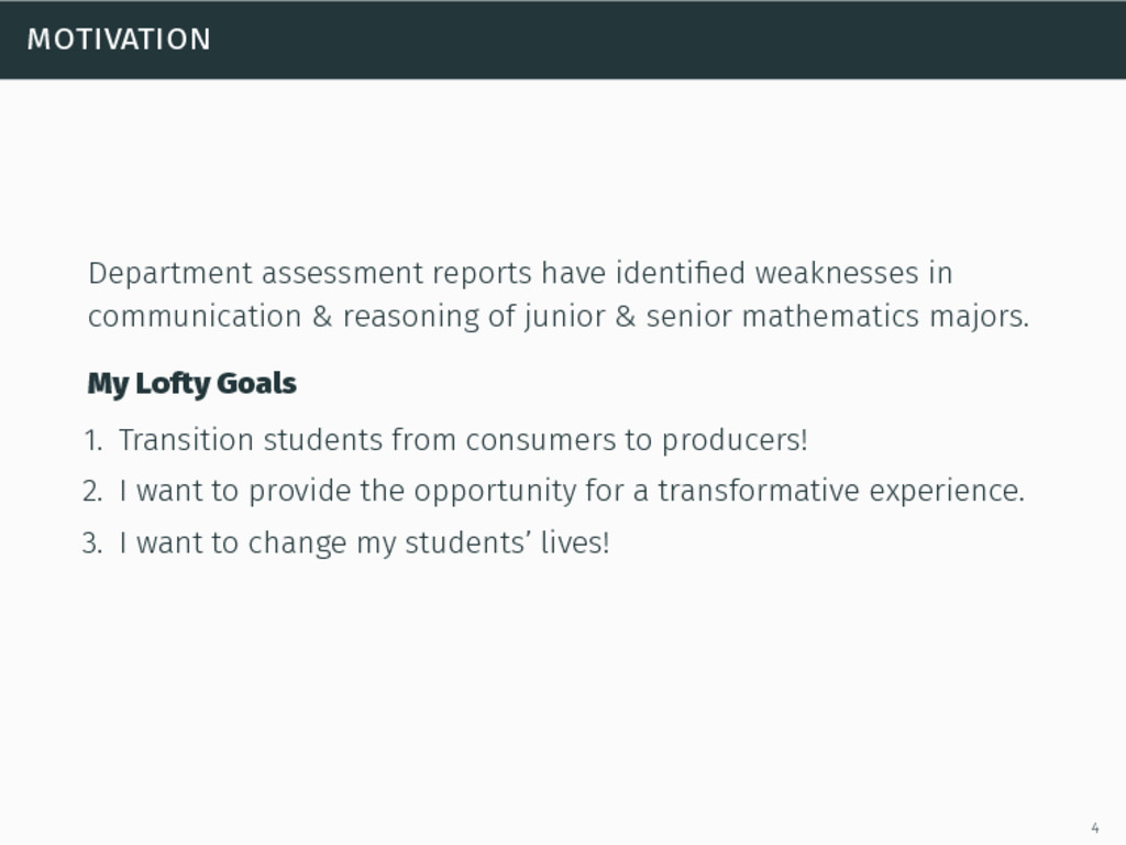motivation Department assessment reports have i...
