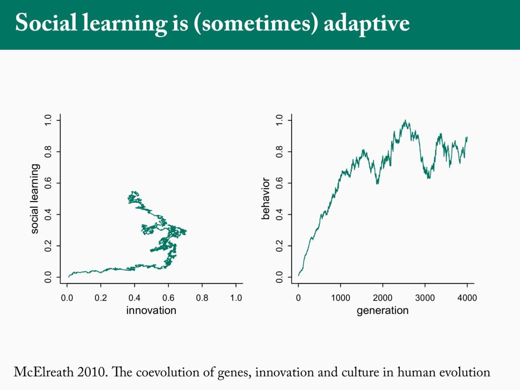 McElreath 2010. The coevolution of genes, innov...