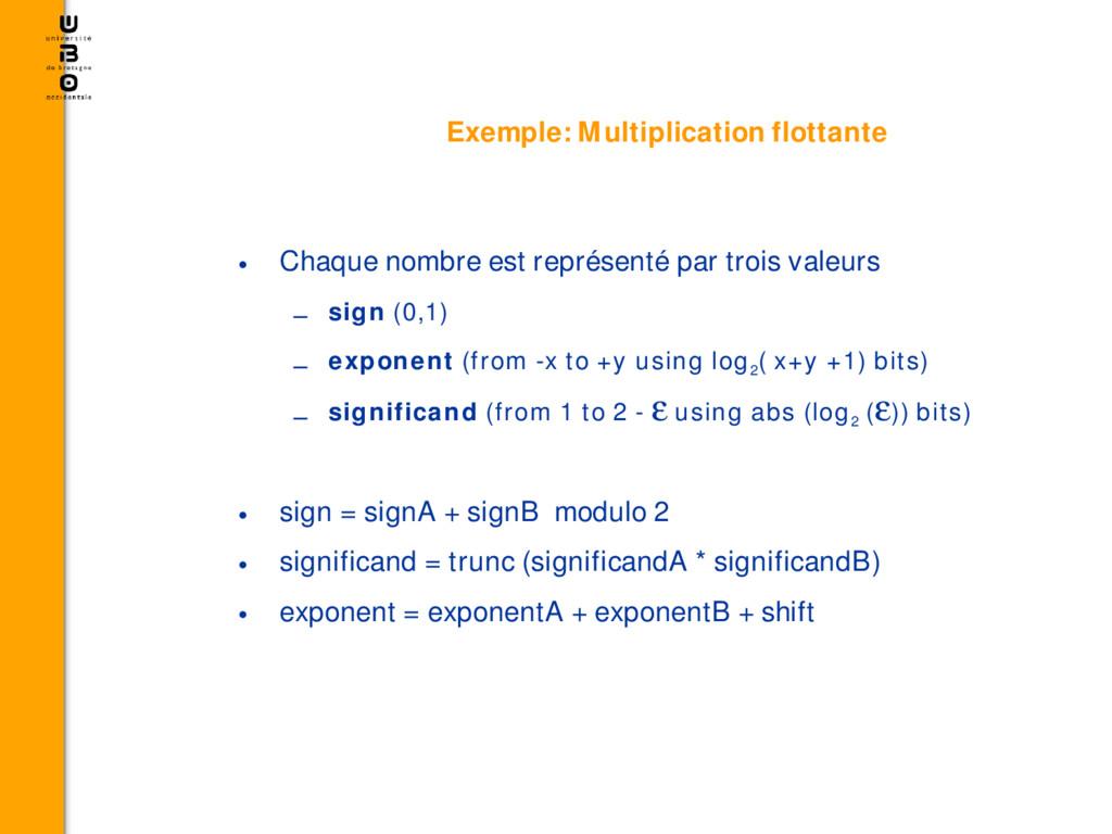 Exemple: Multiplication flottante • Chaque nomb...