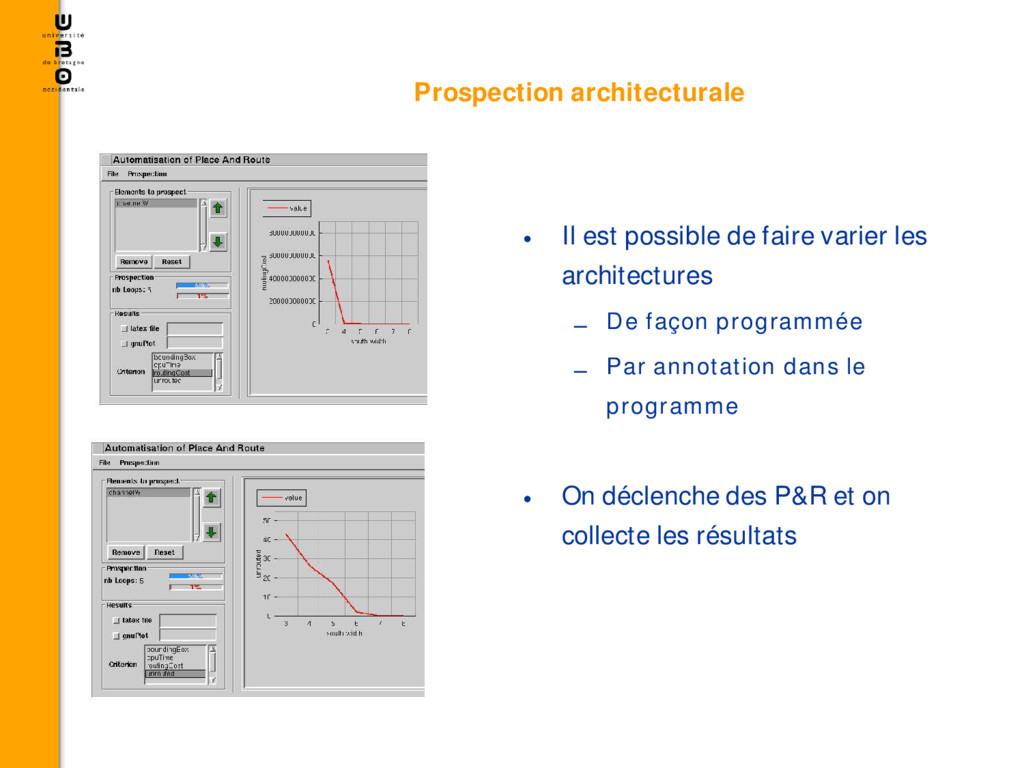 • Il est possible de faire varier les architect...