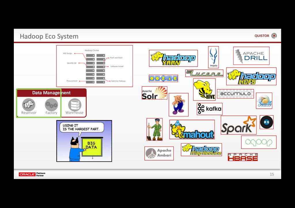 15 Hadoop Eco System Data Management Reservoir ...