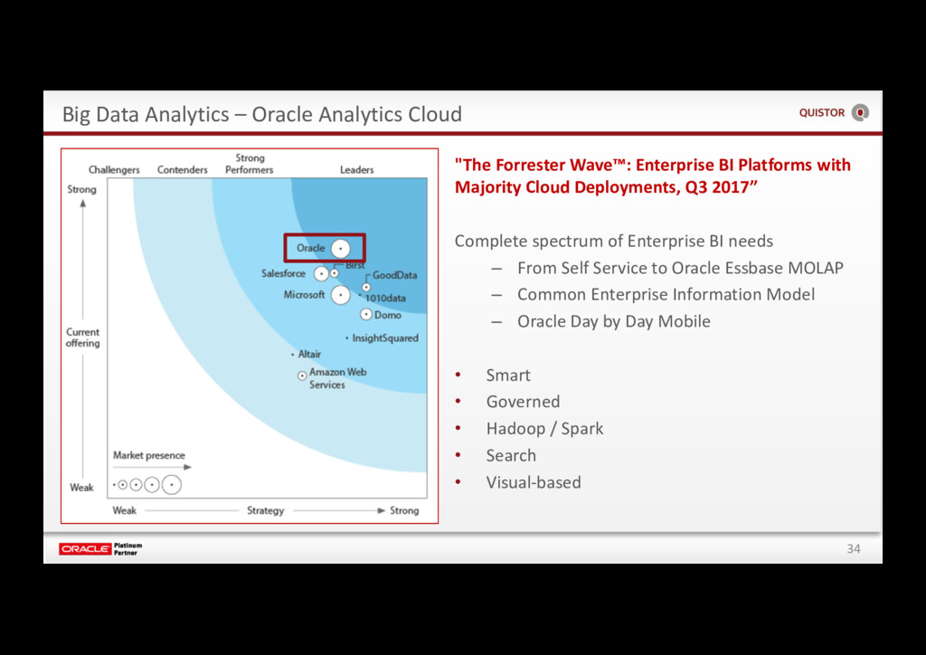 34 Big Data Analytics – Oracle Analytics Cloud ...
