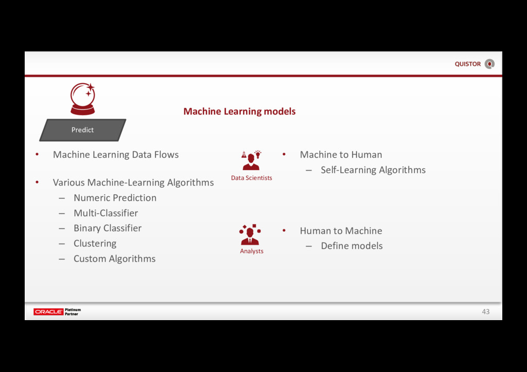 43 Predict • Machine Learning Data Flows • Vari...