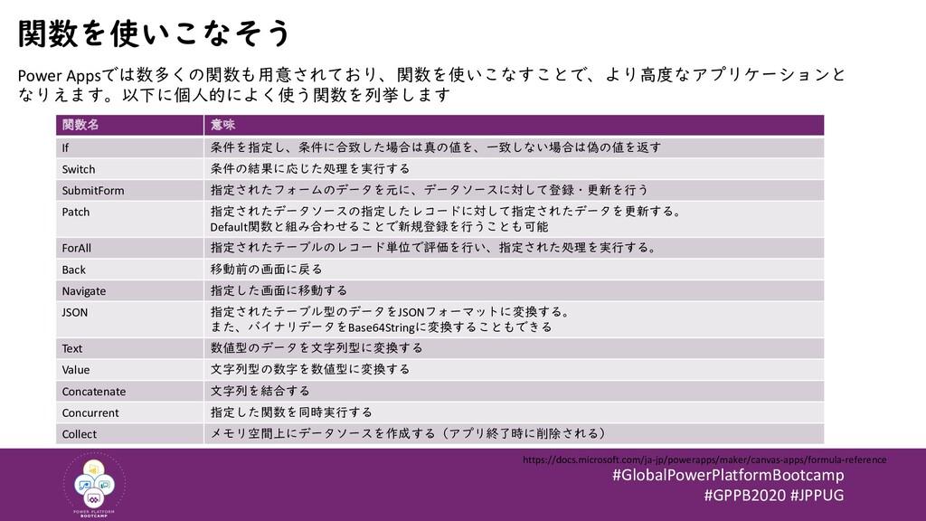 #GlobalPowerPlatformBootcamp #GPPB2020 #JPPUG 関...