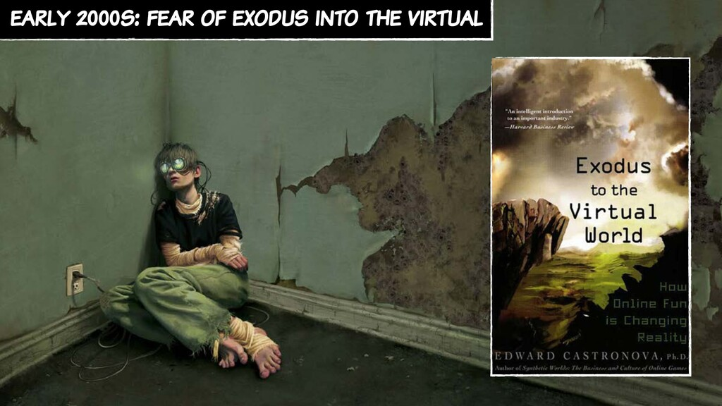 early 2000s: fear of exodus into the virtual