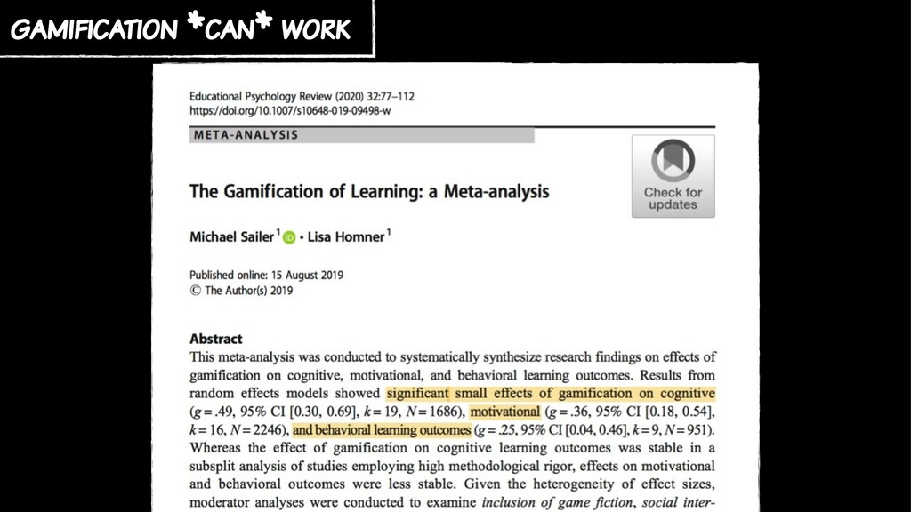 gamification *can* work