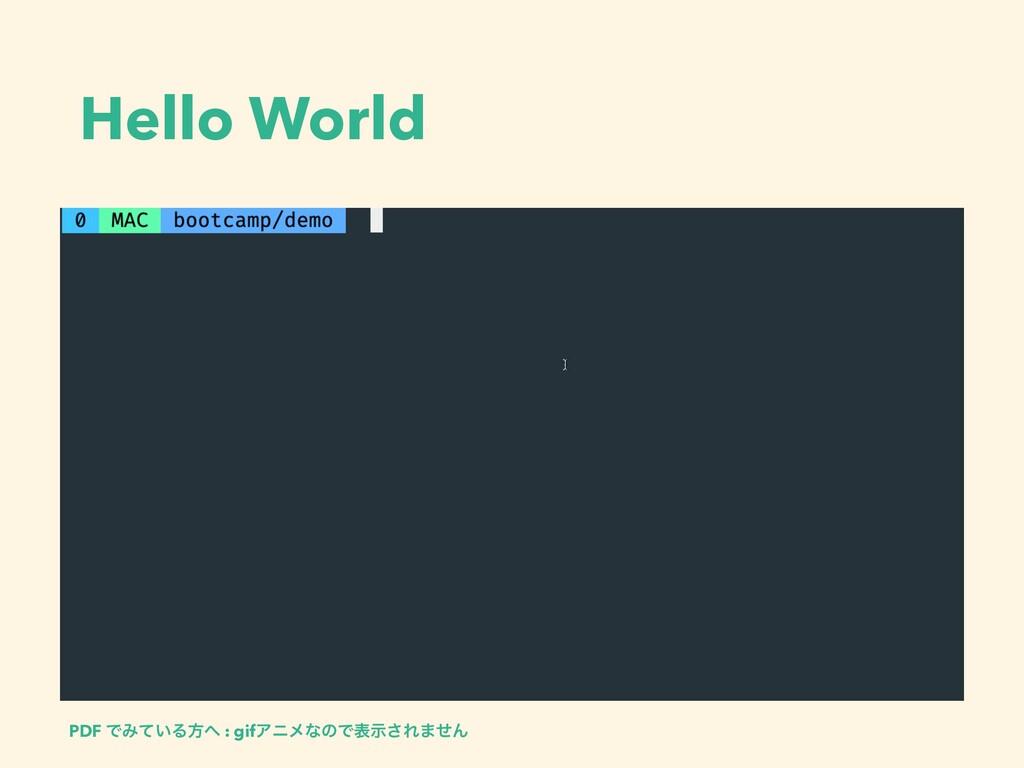 Hello World PDF ͰΈ͍ͯΔํ : gifΞχϝͳͷͰදࣔ͞Ε·ͤΜ