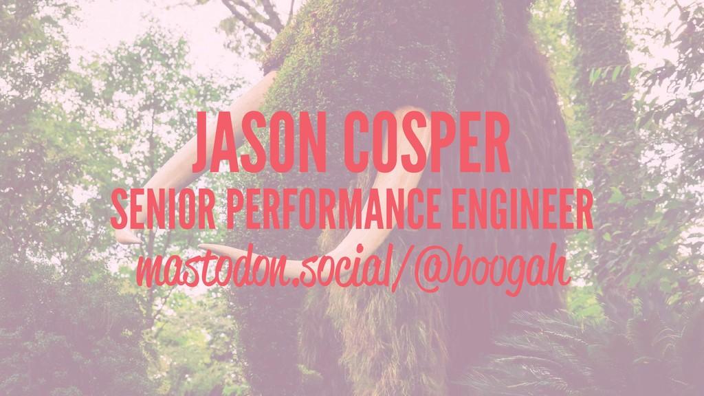 JASON COSPER SENIOR PERFORMANCE ENGINEER mastod...