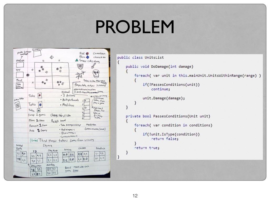 12 PROBLEM