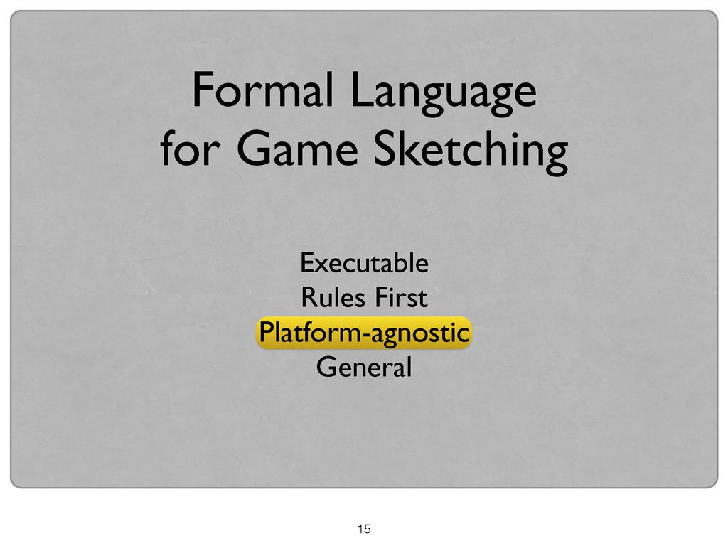 15 Formal Language  for Game Sketching Execut...