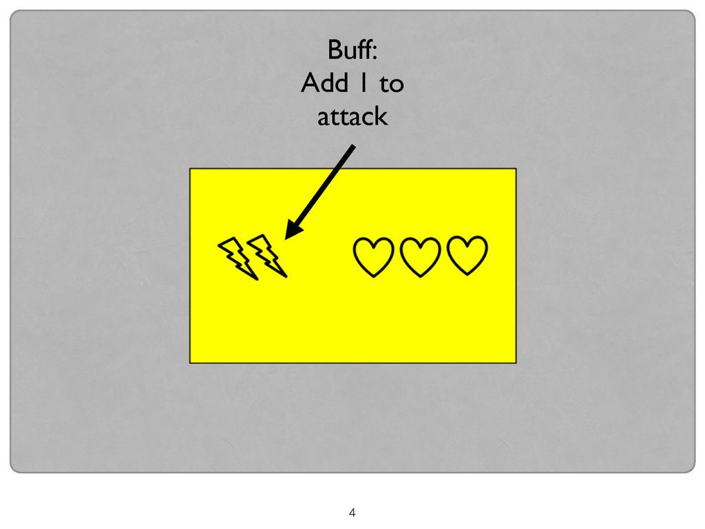 4 Buff:  Add 1 to attack