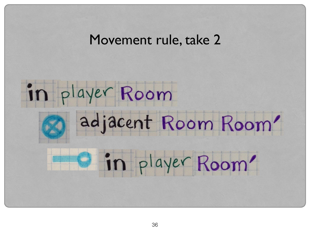 36 Movement rule, take 2