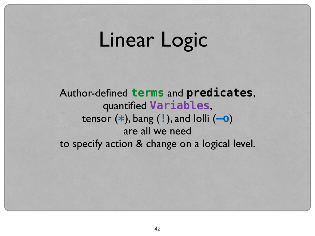 42 Author-defined terms and predicates,  quant...