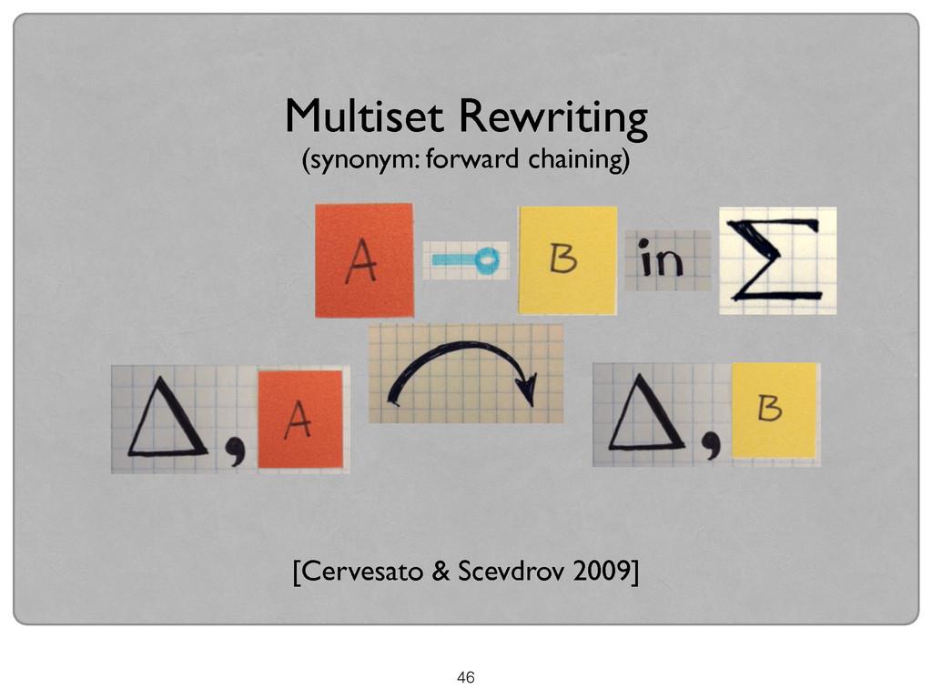 46 Multiset Rewriting [Cervesato & Scevdrov 200...
