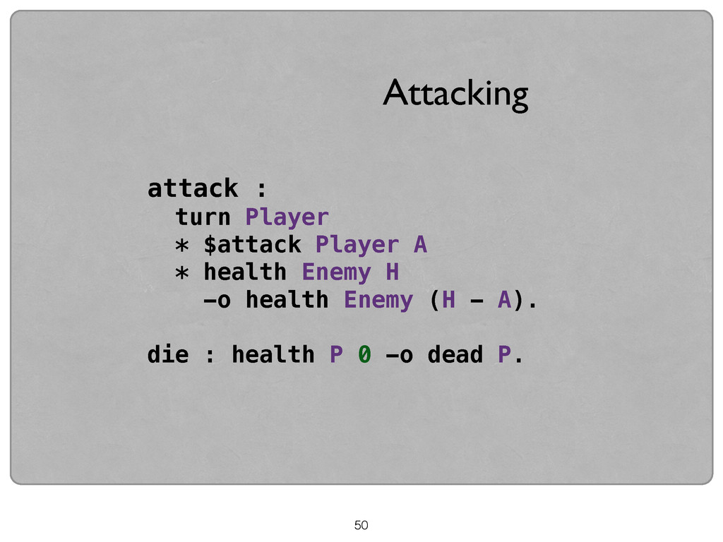 attack : turn Player * $attack Player A * healt...