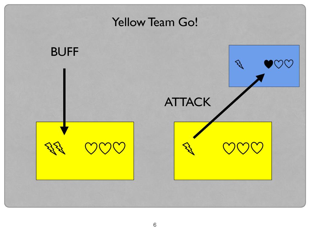 6 Yellow Team Go! BUFF ATTACK