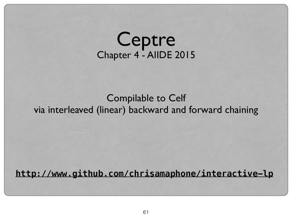 61 Ceptre Compilable to Celf  via interleaved...