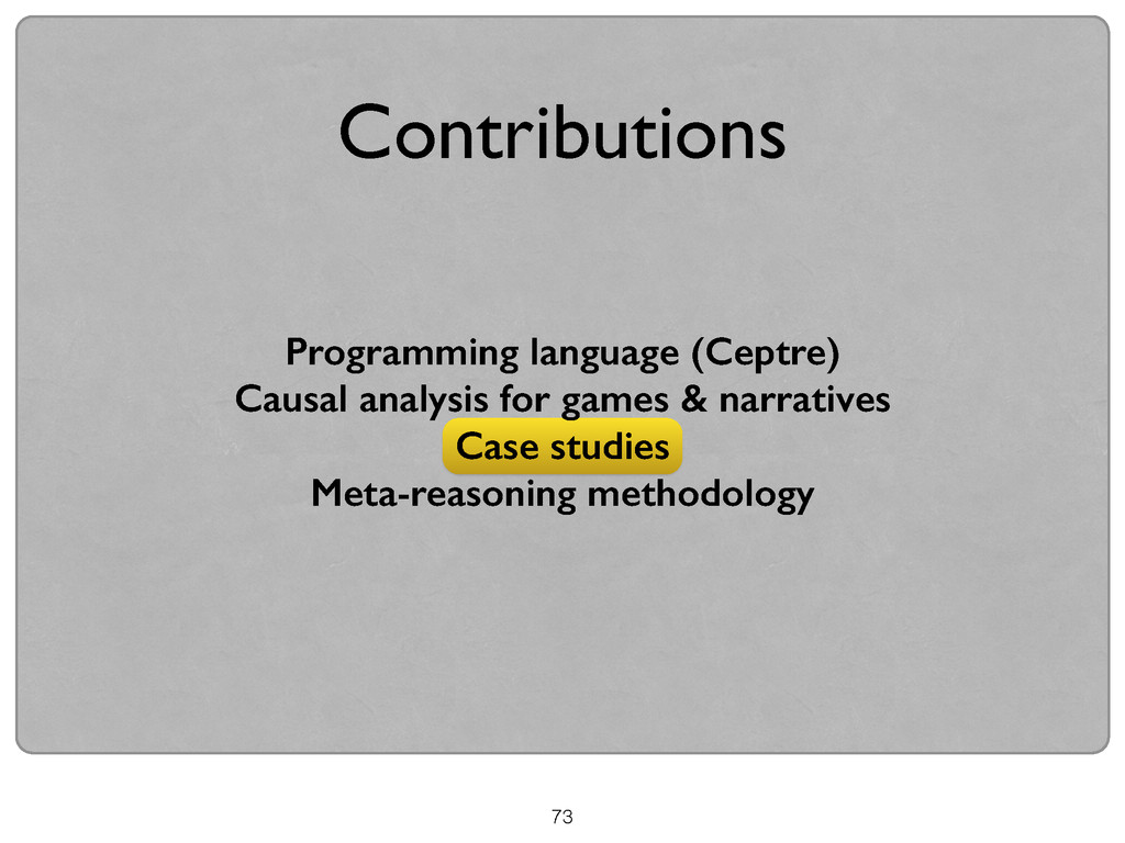 Programming language (Ceptre) Causal analysis f...
