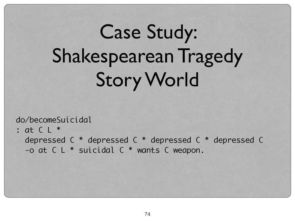 74 Case Study:   Shakespearean Tragedy   St...