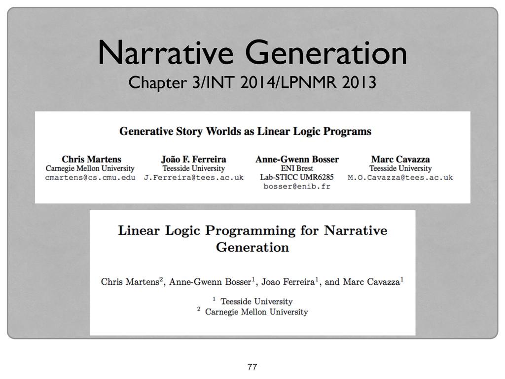 77 Narrative Generation  Chapter 3/INT 2014/L...