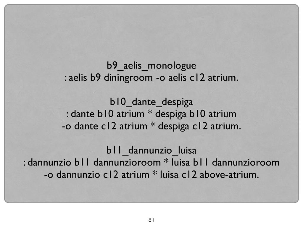 81 ! b9_aelis_monologue  : aelis b9 diningroo...