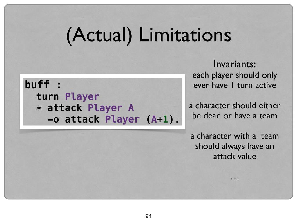 94 (Actual) Limitations buff : turn Player * at...