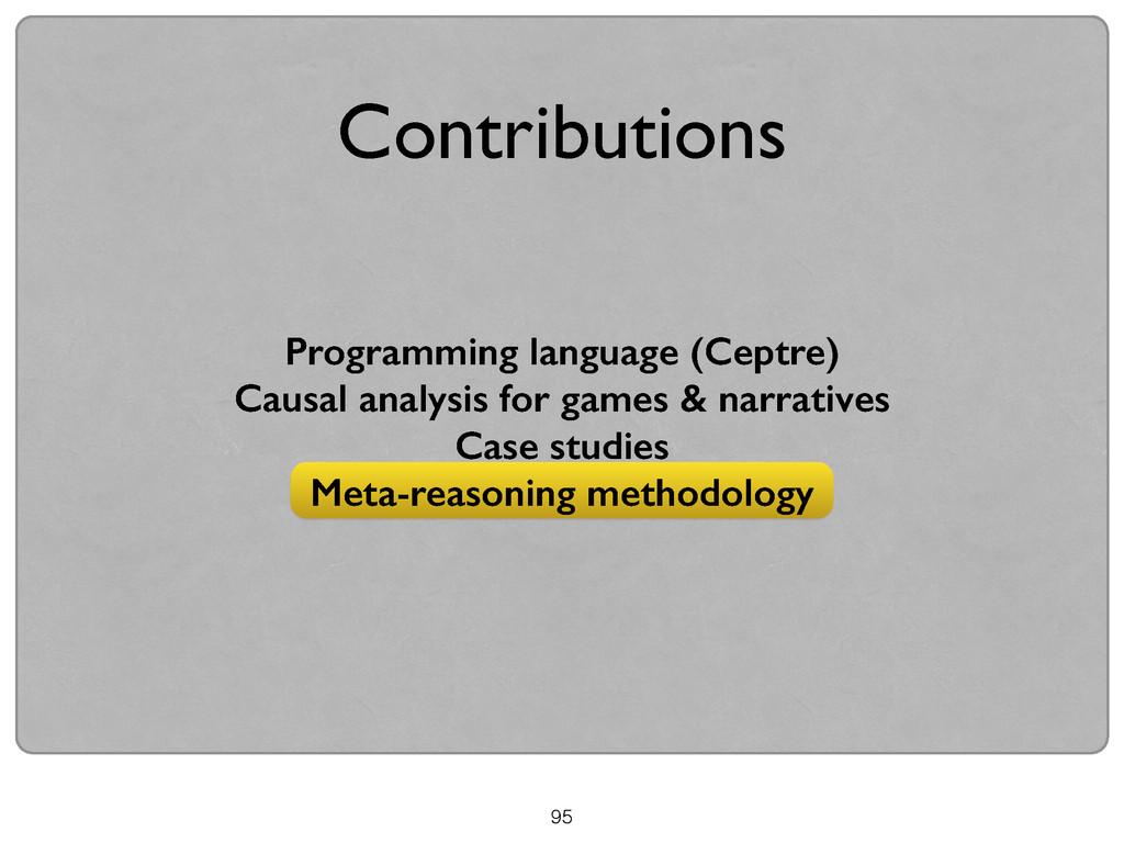 95 Contributions Programming language (Ceptre) ...