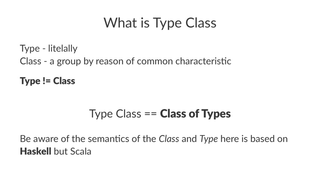 What is Type Class Type - litelally Class - a g...