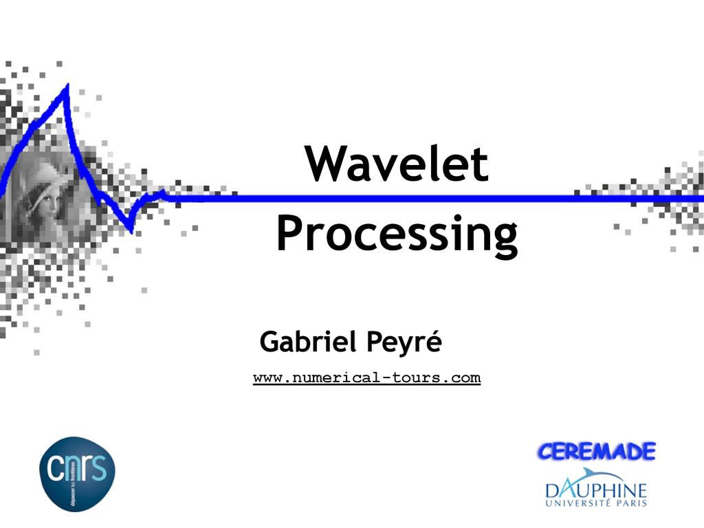 Wavelet Processing Gabriel Peyré www.numerical-...
