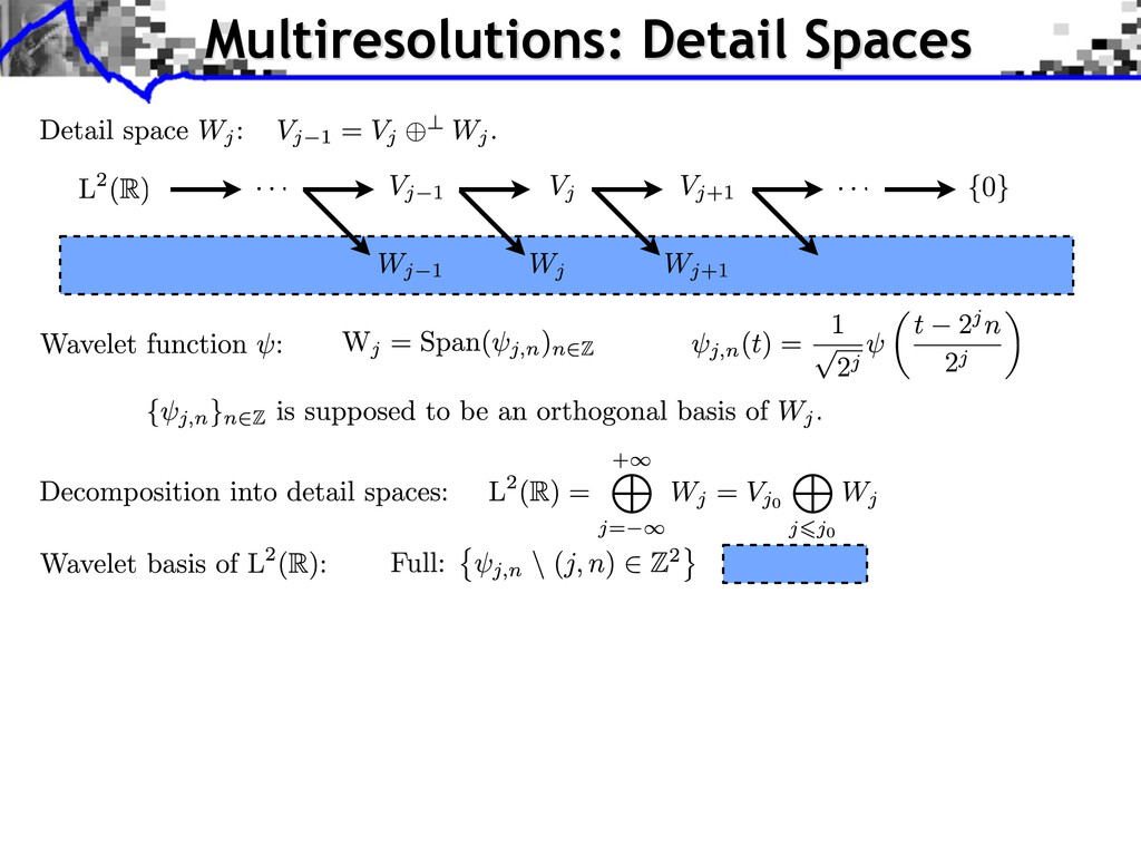 Multiresolutions: Detail Spaces