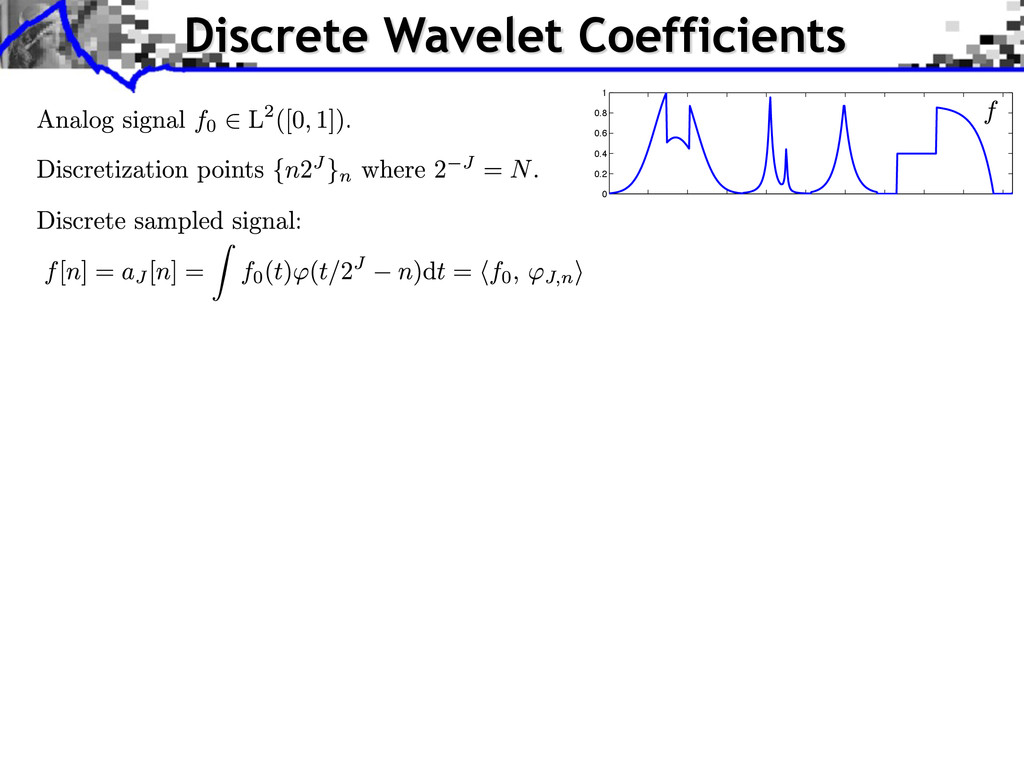 Discrete Wavelet Coefficients 0 0.2 0.4 0.6 0.8...