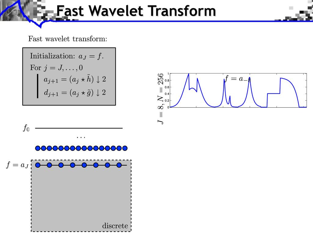 Fast Wavelet Transform 0 0.2 0.4 0.6 0.8 1