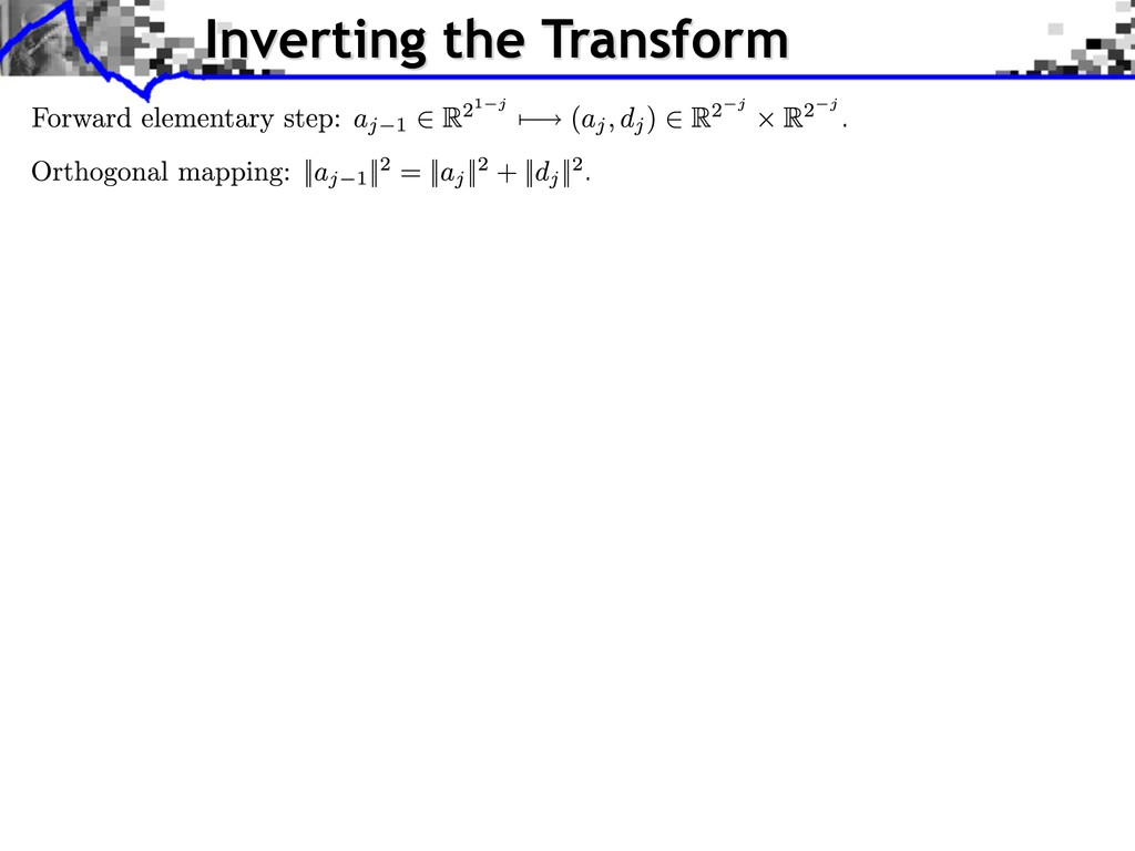 Inverting the Transform