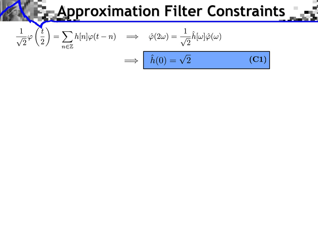 Approximation Filter Constraints