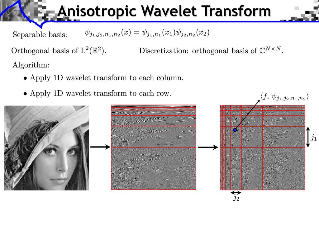 Anisotropic Wavelet Transform