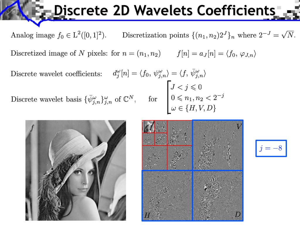 Discrete 2D Wavelets Coefficients