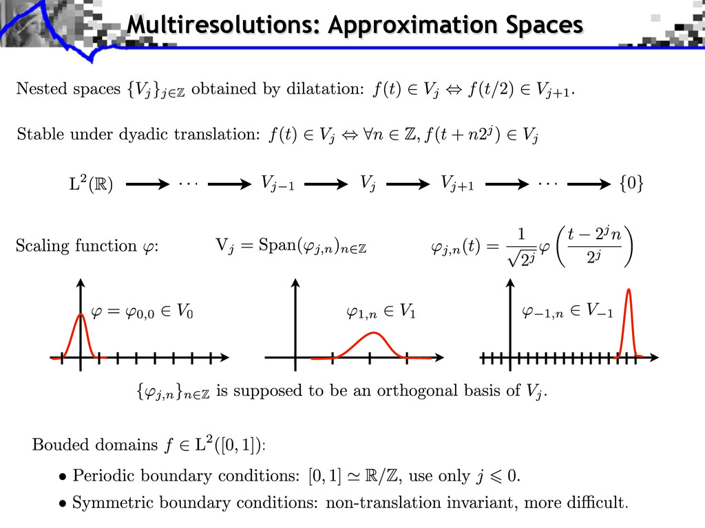 Multiresolutions: Approximation Spaces